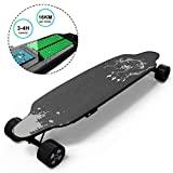 GeekMe Skateboard Elettrico Longboard con Telecomando, Skateboard a 4 Ruote con Batteria al Litio...